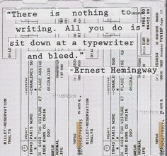 Hemingway knows it.