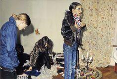 """ At Lucianos House"" - Franz Gertsch Huile sur toile de coton"