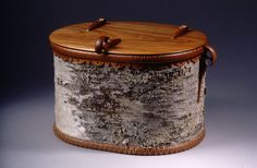 Birch Bark Basket with Cherry Lid