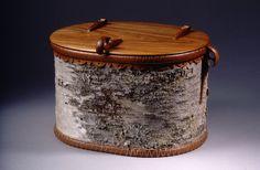 Birch Bark Basket with Cherry Lid