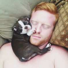 Ginger and pup