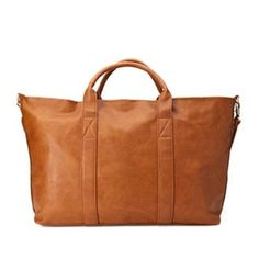 """Vegan Leather Overnight Bag Zip closure 