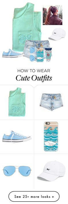 """""""Our God is greater. Our God is stronger. God you are higher then any other!"""" by raquate1232 on Polyvore featuring American Eagle Outfitters, Converse, Revo, Vineyard Vines, Casetify and Tervis"""