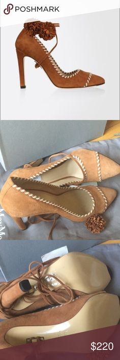 New MaxMara pumps Beautiful lace up pumps with shoe bag.  Don't have box.  Never worn outside store MaxMara Shoes Heels