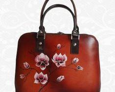 Ručne maľované kožené kabelky z pravej talianskej kože