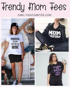 1de0956356a34 Trendy Mom Tees - Cute and stylish motherhood shirts. Pregnancy  announcement shirts / baby bump style / mom style #momlife #momtees  #momshirts