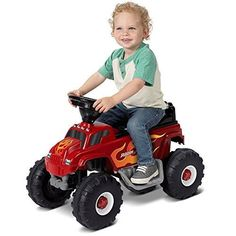 Radio Flyer Monster Truck with Lights and Sounds 6V Battery Operated Ride-On