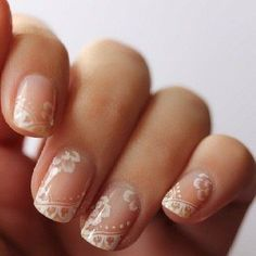 {Five Swoonworthy Bridal Manicures to Love} || The Pink Bride www.thepinkbride.com || Image courtesy of The Knot user forums via Pinterest || #bridalmanicure #manicure #formal #weddingnails