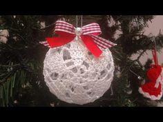 Crochet Stitches, Crochet Patterns, Christmas Balls, Christmas Ornaments, Holiday Decor, Crafts, Youtube, Xmas Ornaments, Snow