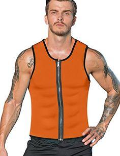 1d60ea02c NonEcho Men Sauna Sweat Vest Weight Loss Waist Trainer Vest Neoprene Tank  Top Shapewear Slimming Shirt Workout Suit