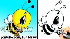 Resultado de imagen para how to draw a bee