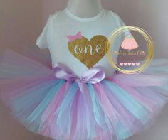 Check out this item in my Etsy shop https://www.etsy.com/ca/listing/295080961/1st-birthday-tutu-outfit-pastel-birthday
