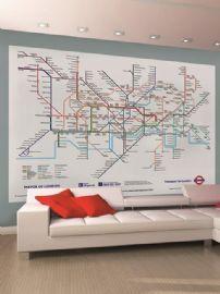 London Underground Tube Map Wall Mural 2.32m x 1.58m