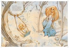 Mum's Hair (Håret Til Mamma) by Gro Dahle illustrated by Svein Nyhus. Beautiful illustrations- wish there was an English translation. Future Library, Children's Book Illustration, Book Illustrations, Norway, Childrens Books, Illustrators, Brave, Book Art, Scandinavian
