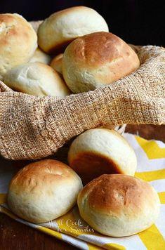 Potato Dinner Rolls | from willcookforsmiles.com #bread #rolls