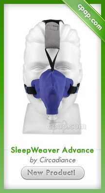 Unlike traditional silicone masks, the cloth SleepWeaver weighs less than an ounce and greatly reduces the chance of red marks. This mask provides better fit and stability. Click on the image above for more information!