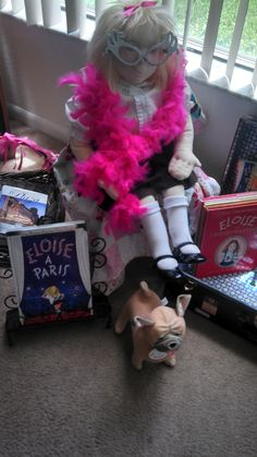 """I bough this 32 inch Eloise Doll with movable arms and legs from Ebay. Don't know much about her, if anyone knows about the """"Just Like Me"""" Eloise dolls, please let me know. Made by Madame Alexander in 2001."""