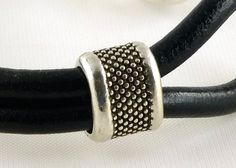 Hombres de cuero brazalete pulsera brazalete de por siriousdesign