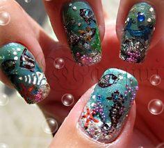 sea | See more nail designs at http://www.nailsss.com/nail-styles-2014/