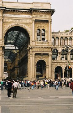 Piazza del Duomo, Milan, Italy - Daddy and Daughter outing to celebrate 18th birthday.