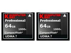 KOMPUTERBAY 2 PACK - 64GB Professional COMPACT FLASH CARD CF 1000X 150MB/s Extreme Speed UDMA 7 RAW 64 GB
