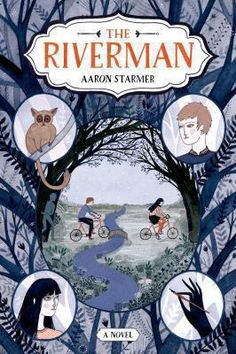 """<2014 pin> The Riverman by Aaron Starmer. SUMMARY:  """"The first book in a trilogy about a girl who claims she is visiting a parallel universe where a nefarious being called The Riverman is stealing the souls of children and the boy she asks to write her biography because she fears her soul may be next""""-- Provided by publisher."""
