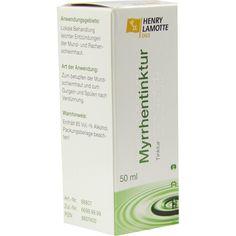 MYRRHENTINKTUR:   Packungsinhalt: 50 ml Tinktur PZN: 08807400 Hersteller: HENRY LAMOTTE OILS GMB Preis: 3,34 EUR inkl. 19 % MwSt. zzgl.…