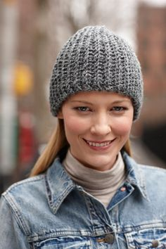 Free Crochet Pattern: Simple Tweed Hat**From Lion Brand :-) **
