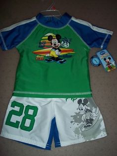 Baby Toddler Boy Bathing Suit Disney Mickey Mouse (18 M) BRAND NEW WITH TAGS !!