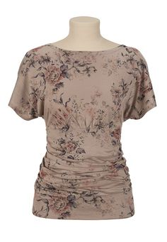Floral Print Kabuki Top available at #Maurices