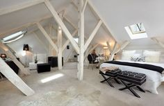 Clarance five star luxury hotel in Lille, the suite under the eaves