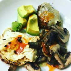 Bison burger with mushrooms and avocado and bacon #keto #jerf #lowcarb #california
