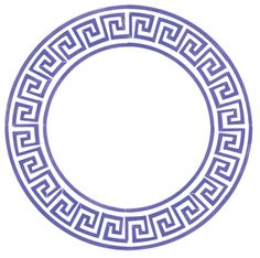 Greek key circle