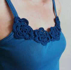 Crochet flower t-shirt