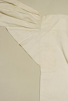 Shirt underarm gusset detail, circa 1830s.  (With acknowledgment to http://www.metmuseum.org)