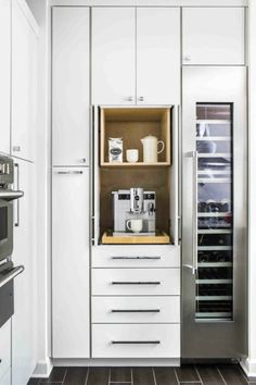 #tuesdaytrending: kitchens focus inside the box | @meccinteriors | design bites | #coffeestation #kitchenorganization #kitchenstorage