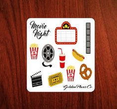 11 Small  Movie PLANNER STICKERS| For Erin Condren Life Planer  & Other Popular Planners and inserts.
