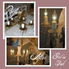 Brass chandelier makeover with Chalk Paint® Decorative Paint by Annie Sloan