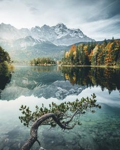 """""""Coloured"""" - Eibsee, Germany  This was probably the most fall-looking place"""