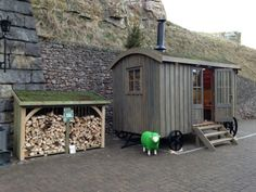 Image 1 – Guest suite, Siberian Larch Clad, Shepherd's Hut . Timber Buildings, Garden Buildings, Outside Living, Outdoor Living, Shepherds Hut For Sale, Wooden Lodges, Bistro Interior, Eco Cabin, Tiny Cabins