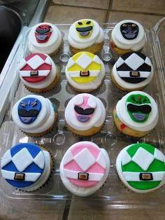 Resultado de imagen para power rangers cupcakes