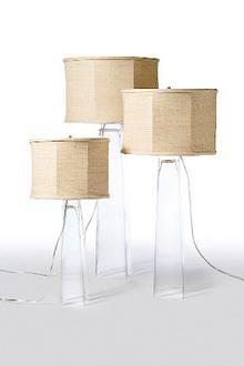 Square Glass lamps :shop greige