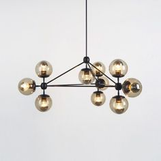 10 Globes DIY New Modern MODO chandelier glass DNA pendant lamp ceiling lighting $380