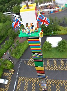 World's tallest LEGO tower at LEGOLAND Windsor, UK