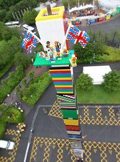 World's tallest LEGO tower at LEGOLAND Windsor, UK