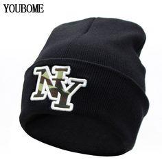 New Beanies Winter Hat For Women Bonnet Caps Brand NY Women s Winter Hats  For Men Knit d6c69219e6a