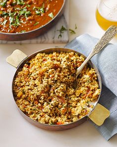 Atul Kocchar's recipe, made with fresh Indian cheese, was inspired by the late Indian food writer Tarla Dalal, who is one of the heroes of Indian cuisine. Indian Food Recipes, Ethnic Recipes, Diwali Recipes, Bhurji Recipe, Soup Recipes, Vegetarian Recipes, Indian Cheese, Pav Bhaji Masala, Diwali Food