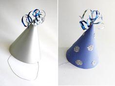 DIY Party Hats + Free Printable |