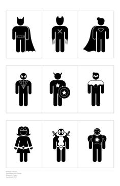 Superhero Pictograms by Michelle Samuels,  Rochester Institute for Technology.  These are among the best superhero pictograms in the business, right up there with Teddy Hahn's.