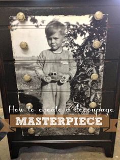 Decoupage Old Furniture DIY Projects with Tutorials Old Furniture, Repurposed Furniture, Furniture Projects, Furniture Makeover, Painted Furniture, How To Decopage Furniture, Armoire Makeover, Modern Furniture, Cool Ideas